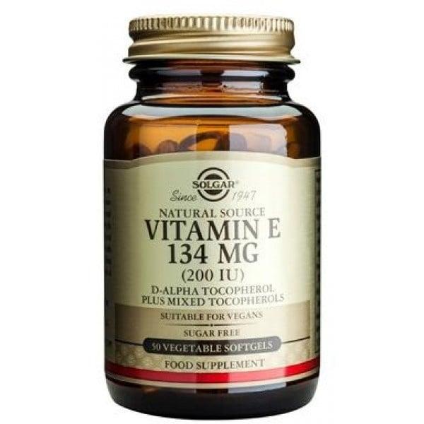 ВИТАМИН Е - силен антиоксидант предпазващ организма от свободните радикали - капсули 200 IU х 50 броя, SOLGAR