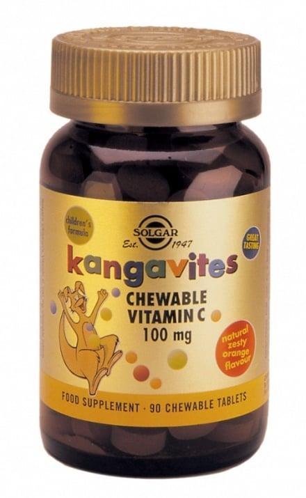 ВИТАМИН Ц за деца 100 мг. * 90дъвчащи таблетки, СОЛГАР