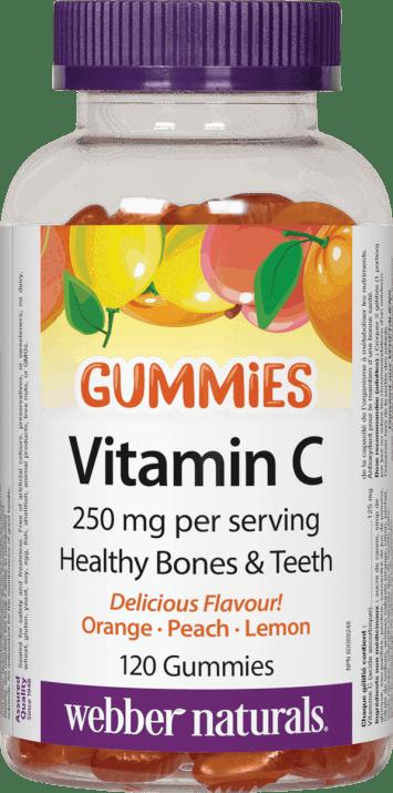 ВИТАМИН Ц ГЪМИС за здравето на костите, зъбите и венците 125 мг * 120желирани таблетки, УЕБЪР НАТУРАЛС