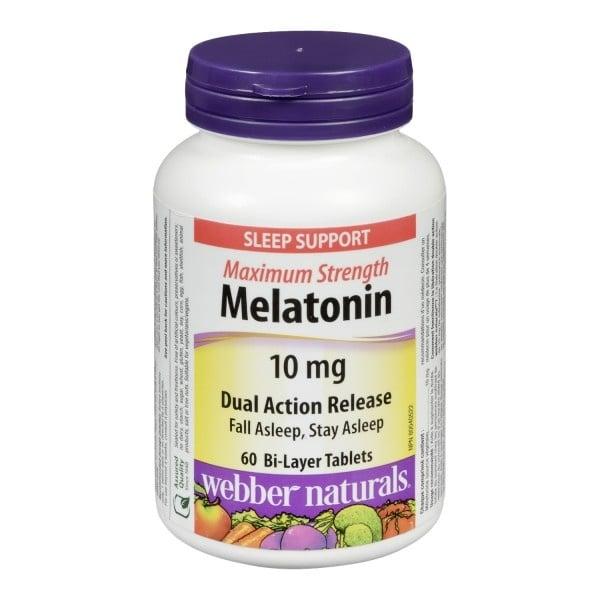 МЕЛАТОНИН - в подкрепа на добрия сън - таблетки 10 мг. х 60, WABBER NATURALS