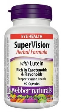 СУПЕР ВИЖЪН ОЧНА ФОРМУЛА - предпазва очите при работа с компютър, намалява риска от катаракта - капсули х 90, WABBER NATURALS