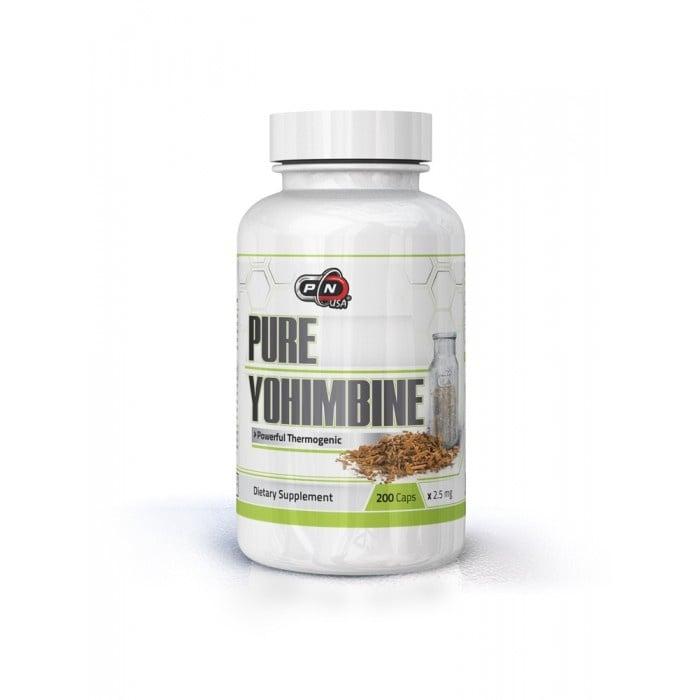 100% ЙОХИМБИН - за тонус и енергия, мощен афродизиак - капсули 2,5 мг., х 200, ПЮР НУТРИШЪН