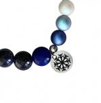 ГРИВНА АВАНТЮРИН И ПЕРЛИ СВАРОВСКИ - 100% естествени камъни, ръчна изработка, Silent Night