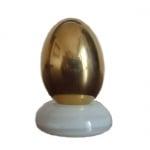 Яйце в естествен размер - позлатено, 24 карата