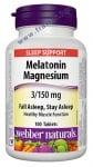 МЕЛАТОНИН 3 мг. + МАГНЕЗИЙ 150 мг. таблетки * 100 УЕБЪР НАТУРАЛС