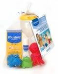 МУСТЕЛА КОМПЛЕКТ слънцезащитен лосион за бебета и деца SPF 50+ 100 мл + Hydra Baby - хидратиращ лосион 50 мл + пясъчен часовник + играчки * 3