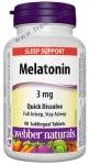 МЕЛАТОНИН сублингвални таблетки 3 мг. * 90 УЕБЪР НАТУРАЛС