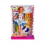 Кукла с дрехи за оцветяване, маркери и аксесоари