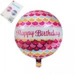 "Балон ""Happy Birthday"" /розов/"