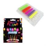 "Свещички с цветен пламък ""Happy Birthday' /12 броя/"