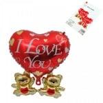 Балон Сърце I Love You /фолио/