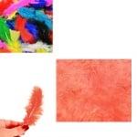 Цветни пера за декорация