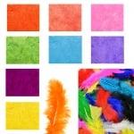 Цветни пера за декорация /≈100 броя в опаковка/