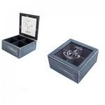 Кутия за чай с 4 разделения 17x17x8см