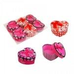 Подаръчни кутийки Сърце /6 броя в стек - микс/