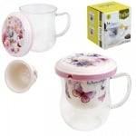 Чаша за чай с капак и цедка