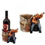 Статуетка - Стойка за вино Моторист