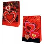"""Подаръчна торбичка """"LOVE"""" /дебел картон/"""