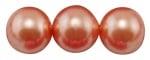 Наниз мъниста стъкло перла 8 мм корал ~80см ~107 броя