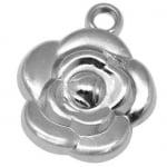 Висулка роза 26x21x8 мм отвор 2 мм CCB -10 бр