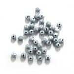 Мънисто имитация тюркоаз топче 8 мм дупка 2 мм бяло -50 грама ~ 170 броя