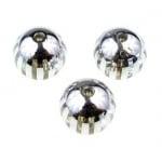 Мънисто металик райе топче 14 мм дупка 2.5 мм. сребро - 8 броя