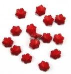 Мънисто плътно снежинка 12x7 мм дупка 2 мм червено -50 грама ~ 105 броя
