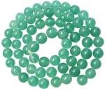 Наниз мъниста полускъпоценен камък АВАНТЮРИН зелен3 топче 10 мм ~39 броя
