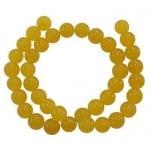 Наниз мъниста полускъпоценен камък АВАНТЮРИН ЖЪЛТ топче 12 мм ~33 броя