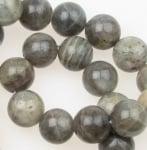 Наниз мъниста полускъпоценен камък ЛАБРАДОРИТ топче 14 мм ~29 броя