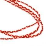 Шнур плосък плитка 5 мм К 100 процента вълна -2 метра