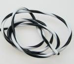 Шнур силикон бяло и черно 4 мм -5 метра