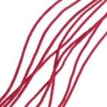 Шнур 1 мм за гривни К червен -30 метра