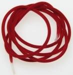 Силиконова тръбичка кадифе 3 мм. отвор 2 мм. червена -5 метра