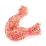 Шнур памук колосан 1 мм праскова цветен ~78 метра