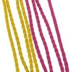 Шнур изкуствена кожа 3 мм цвят АСОРТЕ -1 метър
