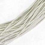 Шнур изкуствена кожа 3.2 мм объл плетен цвят бял -1 метър