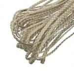 Шнур изкуствена кожа 5x2 мм плосък плитка цвят бежов -1 метър