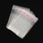 Целофаново пликче 4/4+3 см.капак залепващ 30мк. -200 броя
