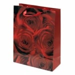 Торбичка подаръчна от картон 266x350x114 мм рози