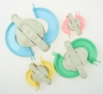 Форми за плетене на помпони 4 размера 38мм 48мм 68мм 88мм, качество1 ABS