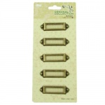 Комплект метални табелки 4.5x1.2 см винтидж - 5 броя
