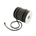 Шнур коприна 5x3 мм Habotai цвят сив -1 метър