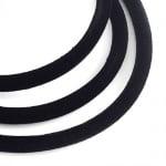 Шнур шлауфка кадифе 5 мм черен -1 метър