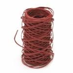 Шнур от хартия с тел 2 мм цвят червен -30 метра