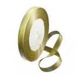 Лента oрганза 10 мм злато ±22 метра