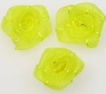 Роза тюл 25 мм. жълто -10 броя