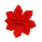 Цвете 8 листа 31x33x6 мм червено -10 броя