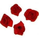Роза 25 мм червена -10 броя