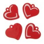 Фигурка гумена сърце 23 мм -10 броя